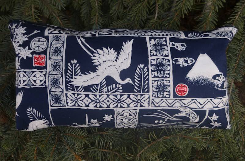 Japan in blue and white Large Zini Flat Bottom Bag