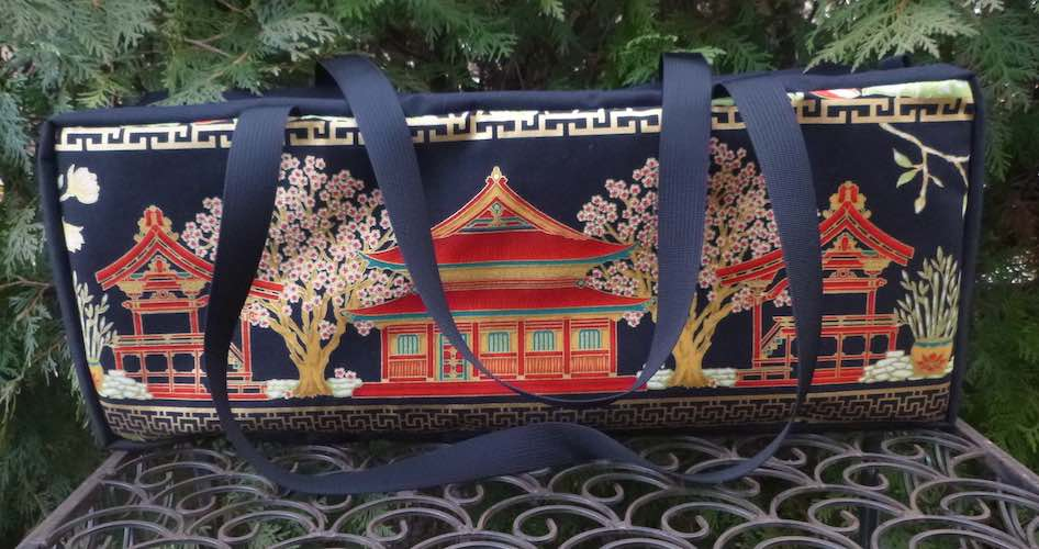 Japanese Village Mahjongg Storage Set The Zippered Tote-ster and Large Zini