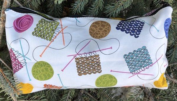Knitting Large Zini Flat Bottom Bag