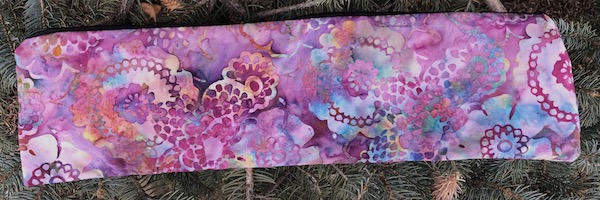 Lacy Flowers Batik Long Knitting Needle Pouch, The Stitch
