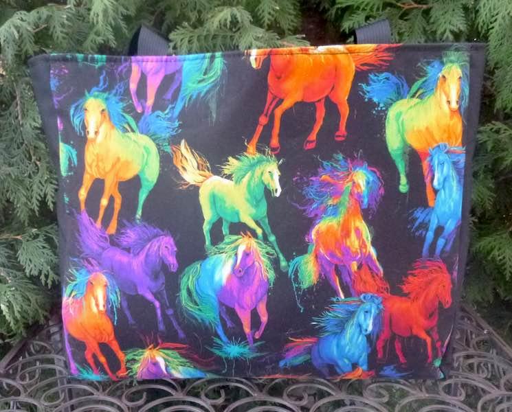 Painted Horses Medium Fleur Tote, wide