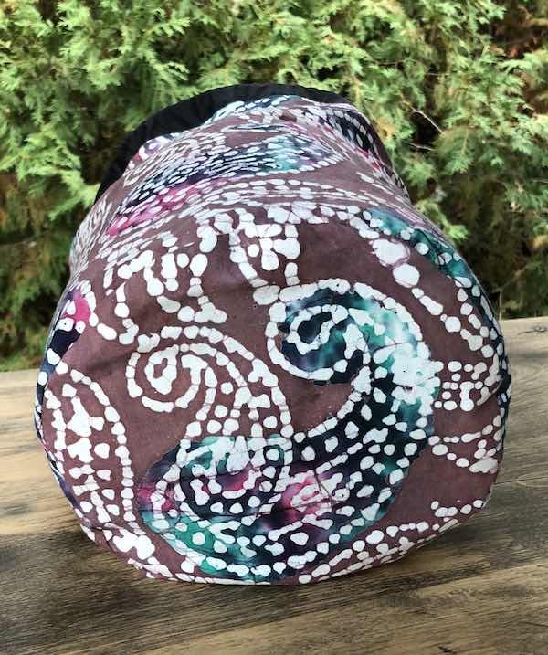 Paisley Batik drawstring bag, The Large Suebee