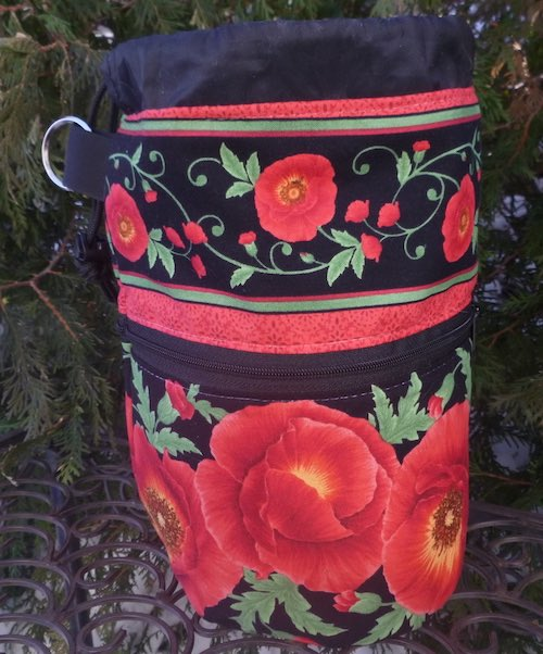 Poppies Kipster Knitting Project Bag