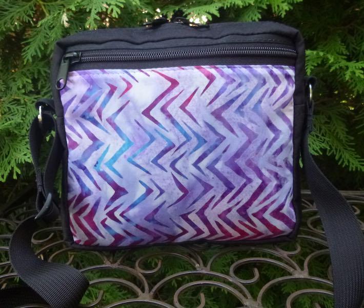Zigzag Batik Hipster Shoulder Bag, The Otter