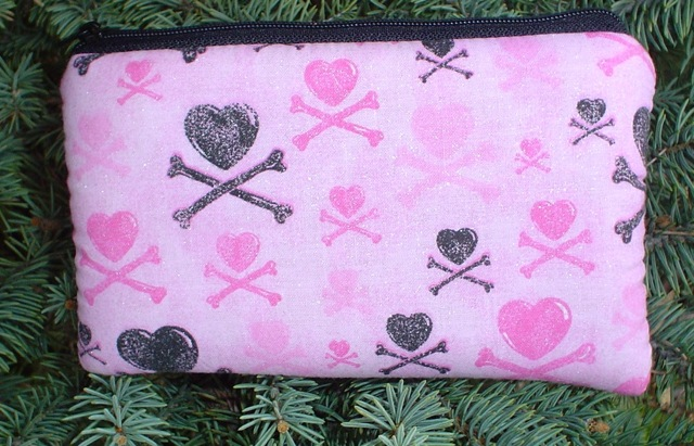 Hearts and Crossbones Tarquin padded case for iPhone -CLEARANCE
