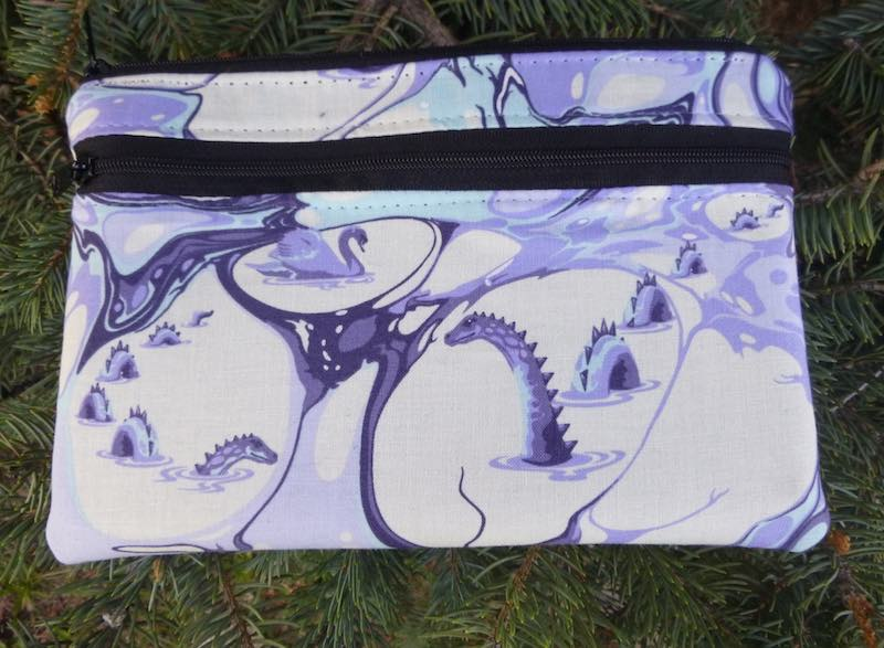 Sea Serpent clutch, smart phone wallet, mini shoulder bag, iPhone 6 wallet, The Wisteria