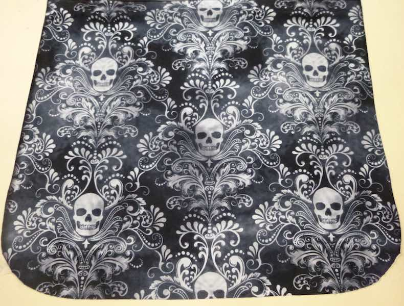 Skull Damask Pick your Size Morphin Messenger Bag Flap
