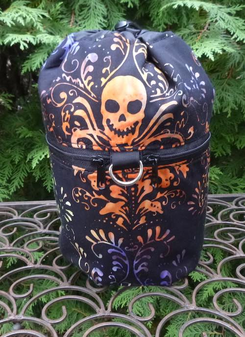 Skull Batik Kipster Knitting Project Bag