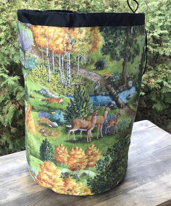 The Forest Alpaca Large Knitting Bag
