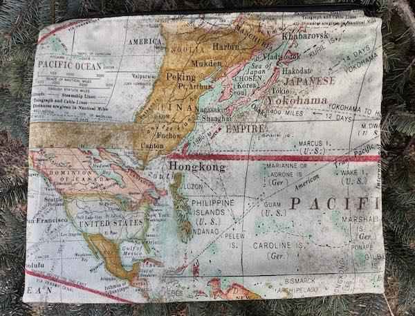 Travel The World Zippered Portfolio, The Pippa