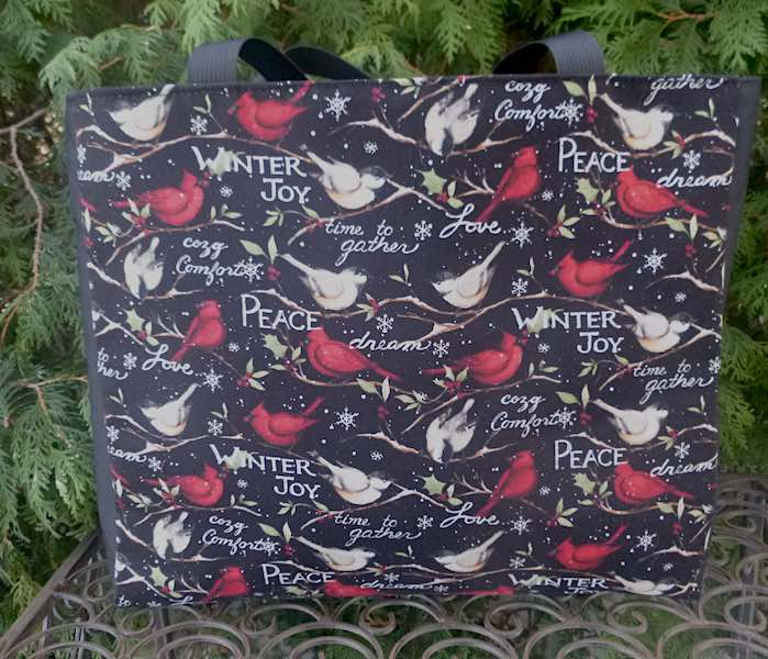 Winter Joy Medium Fleur Tote, wide