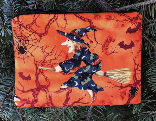 Witchy Poo Goldie zippered bag