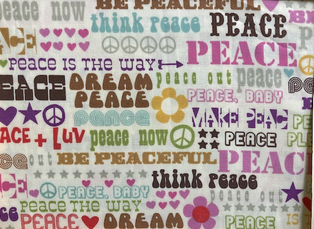 Words of Peace Adjustable Face Mask - MADE TO ORDER