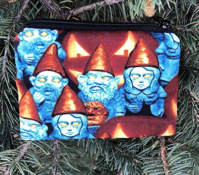 Zombie Gnomes Coin Purse, The Raven - glow in the dark faces