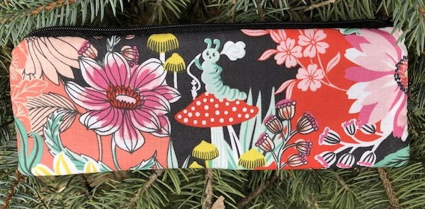 Alice in Wonderland pen and pencil case, crochet hook pouch, The Scribe