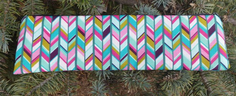 Arrow Stripe case to carry paper or reusable straws, The Strawz