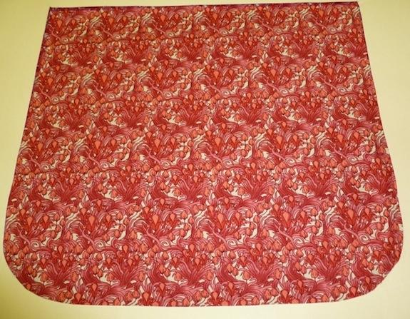 Art Nouveau red floral Pick your Size Morphin Messenger Bag Flap