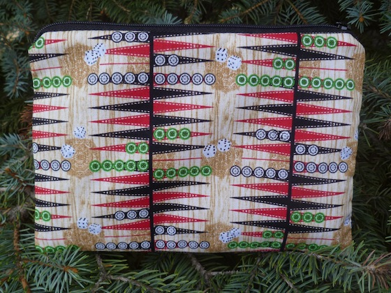Backgammon zippered bag, The Scooter