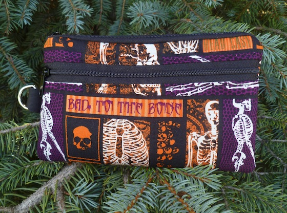 Bad to the Bone Mini Wallet Purse Organizer, The Sweet Pea