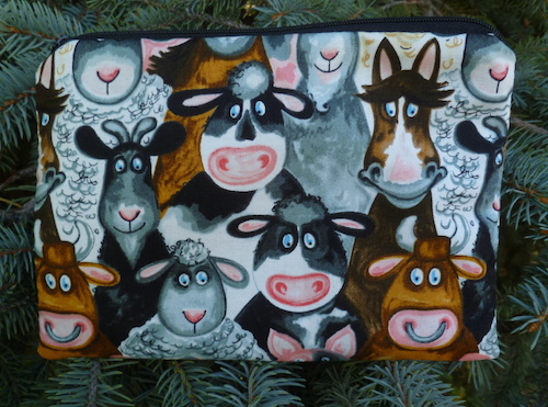 Barnyard Buddies zippered bag, The Scooter