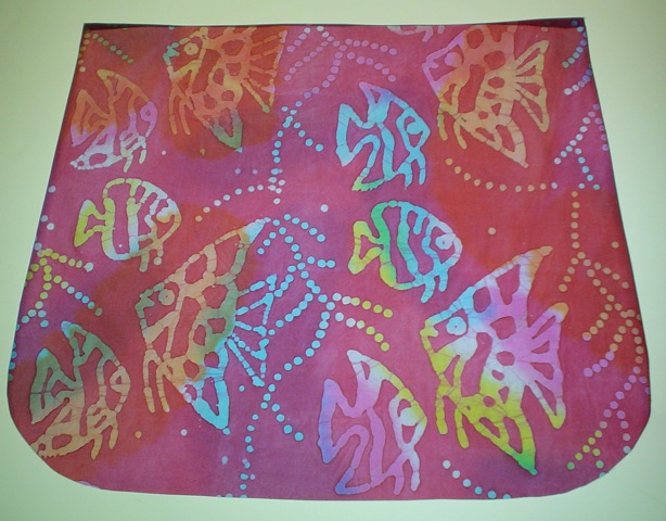 Batik fish Pick your Size Morphin Messenger Bag Flap