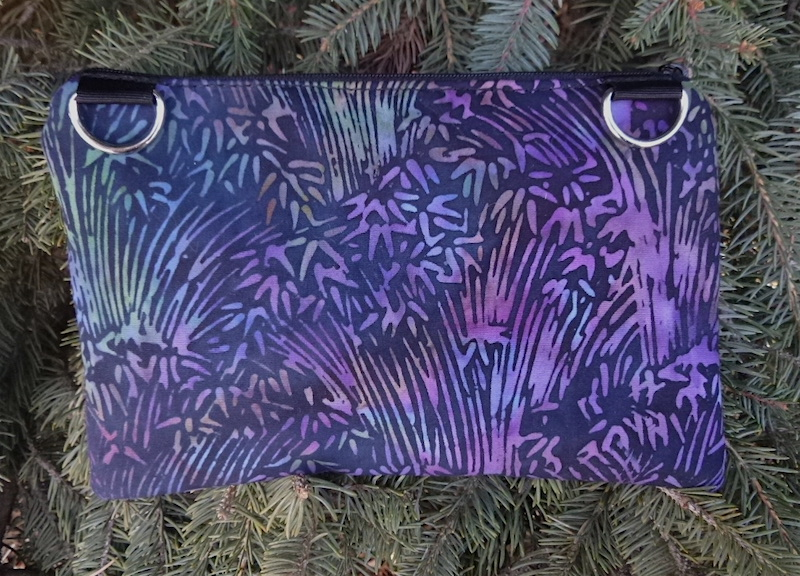 Batik Grasses clutch, smart phone wallet, mini shoulder bag, up to iPhone 8 Plus wallet, The Wisteria