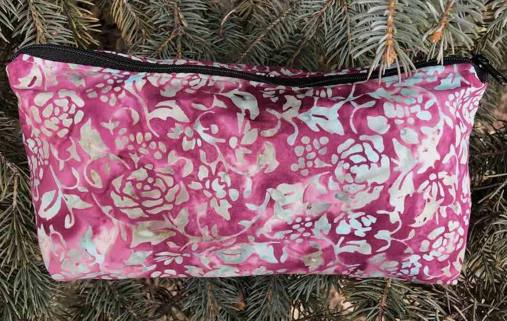 Batik Flowers and Vines flat bottom bag, The Zini