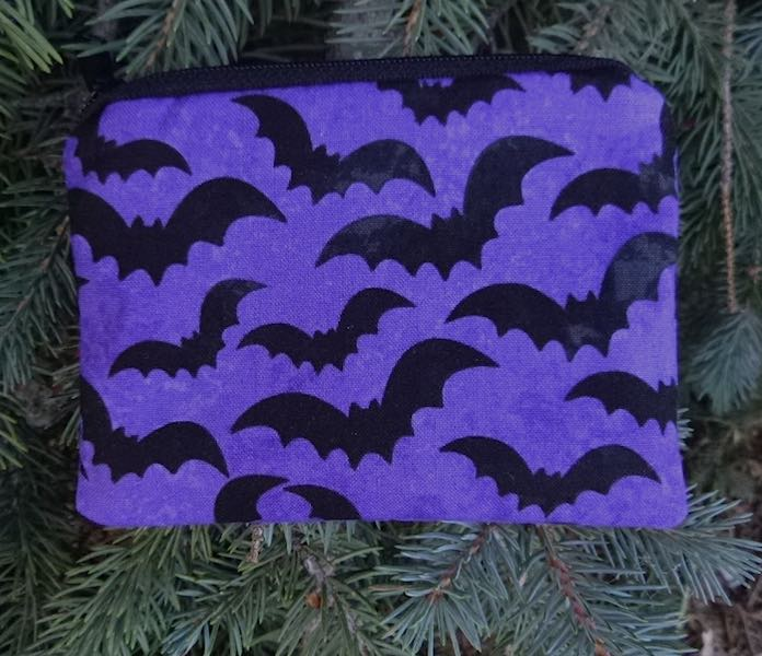 Bats on Purple Coin Purse, The Raven