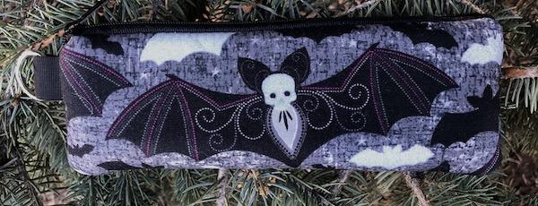 Elegant Bats Padded Zippered Glasses Case, The Spex