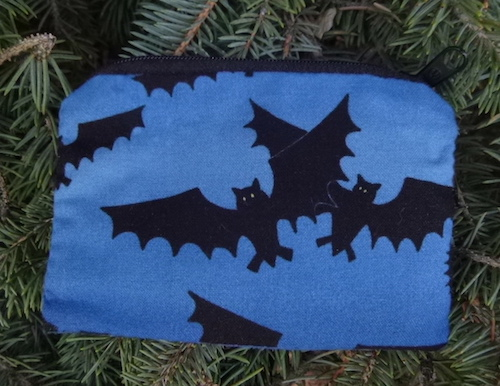 Bats on Blue Coin Purse, The Raven-CLEARANCE