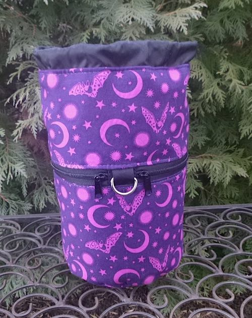 Batty Kipster Knitting Project Bag, Pick your color