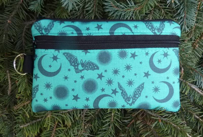 Batty Mini Wallet Purse Organizer, iPhone wallet, The Sweet Pea, pick your color