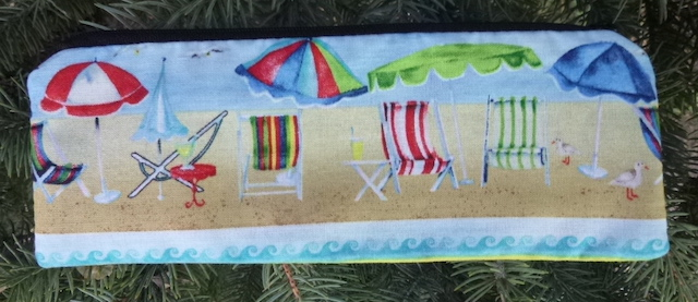 Beach pen and pencil case, crochet hook pouch, The Scribe