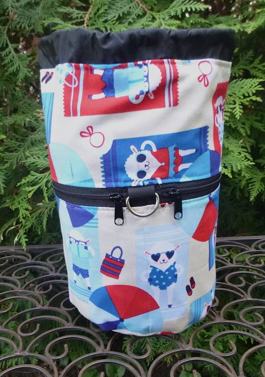 Beach Sheep Kipster Knitting Project Bag