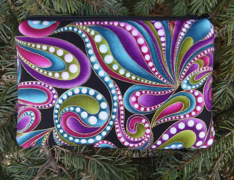 Beaded Paisley padded case for essential oils, the Essence