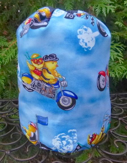 Biker Chicks SueBee Round Drawstring Bag