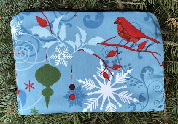 Forest Christmas zippered bag, The Scooter