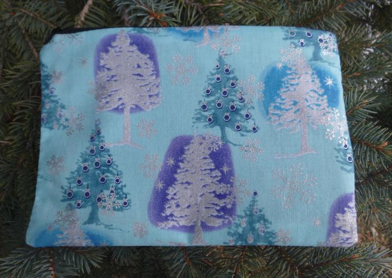 Blue Trees zippered bag, The Scooter