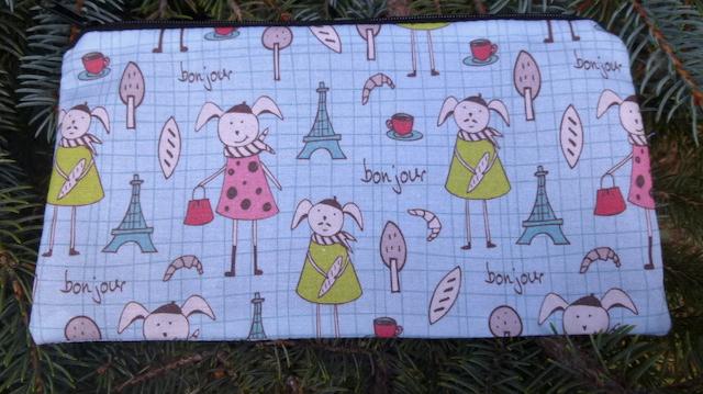 Bonjour Bunny Deep Scribe pen and pencil case