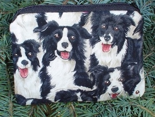 Border Collie Coin Purse, The Raven