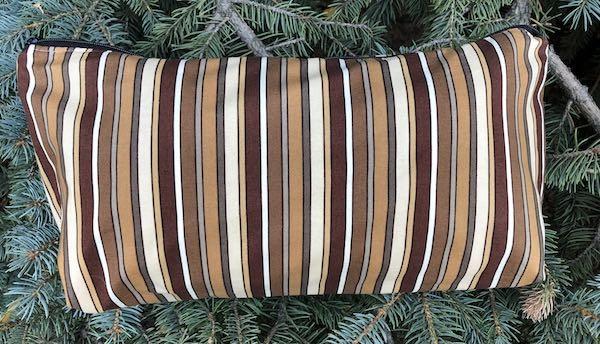 Brown Stripes Large Zini Flat Bottom Bag