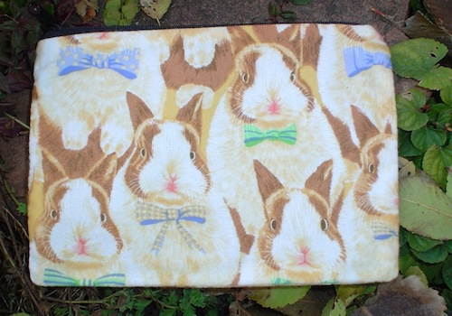 Bunnies in bow ties light Scooter Zippered Bag