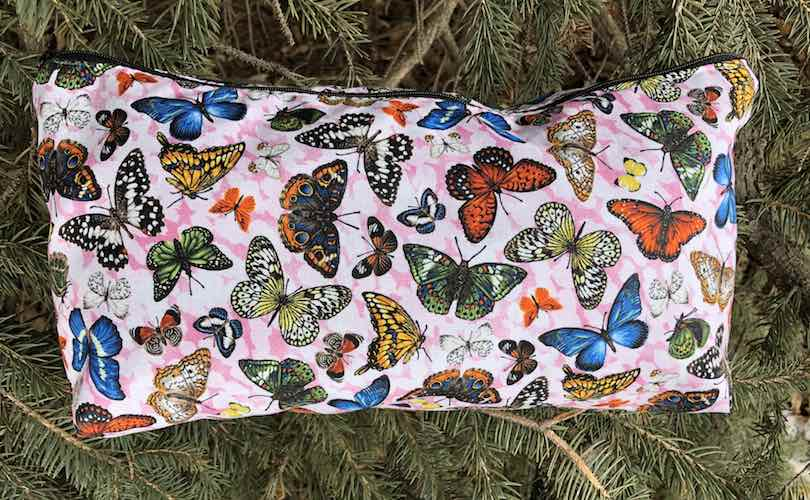 Butterflies Large Zini Flat Bottom Bag, pick your color