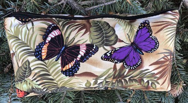 Butterfly Jungle flat bottom bag, The Zini