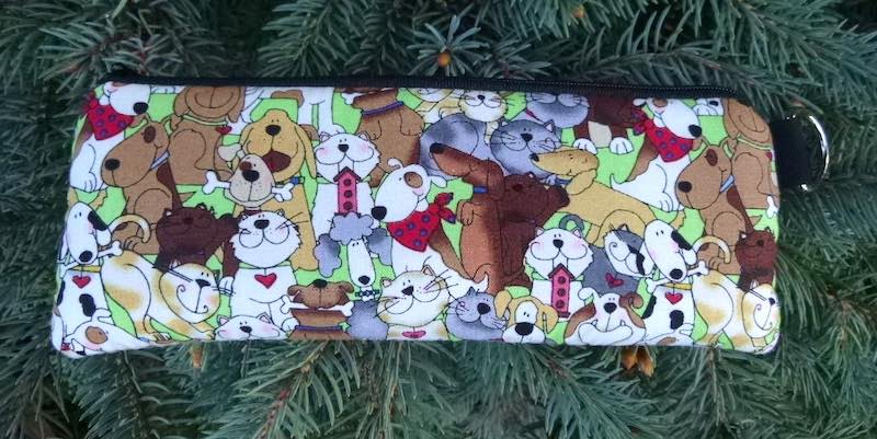 Cats and Dogs Padded Zippered Glasses Case, The Spex