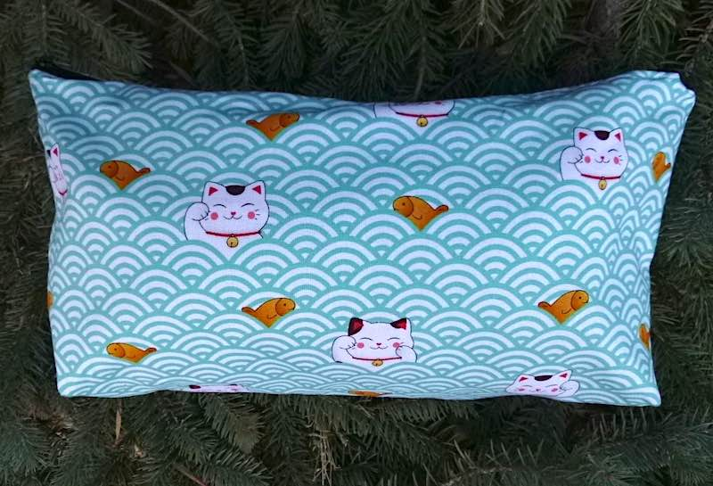 Lucky Cats and Waves Large Zini Flat Bottom Bag