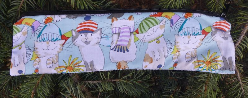 Cats in Hats case to carry paper or reusable straws, The Strawz
