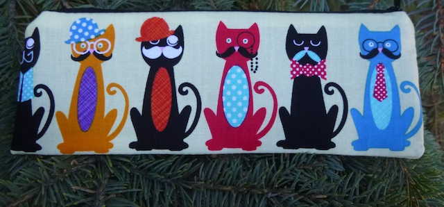Cat's Mustache pen and pencil case, crochet hook pouch, The Scribe