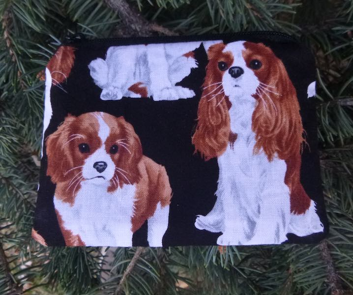 Cavalier King Charles Spaniels Coin Purse, The Raven