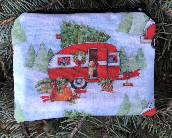 Christmas Camping trailer Coin Purse, The Raven
